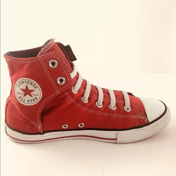 5c5bc75fa0d073 Converse Shoes - ⬇ 🎉Converse Hi-Top All Star Red Elastic Lace